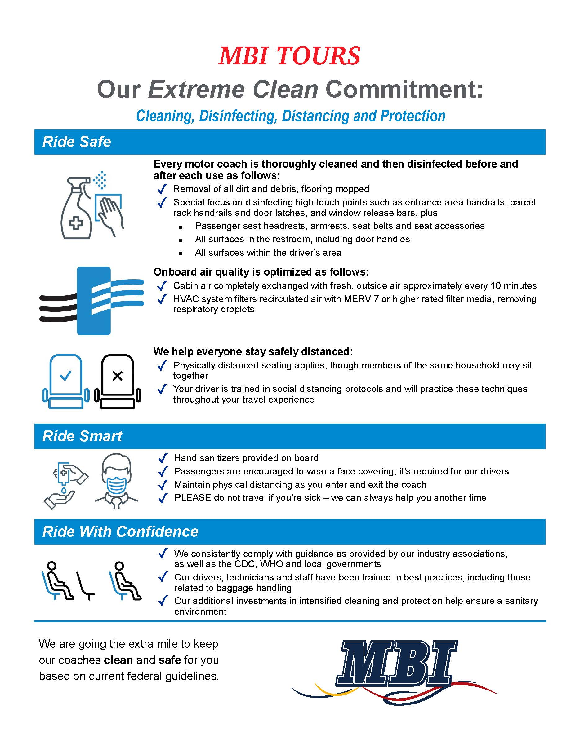 MBI Tours - Our Extreme Clean Commitment