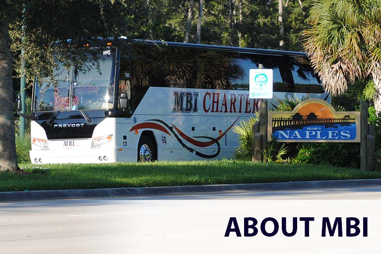MBI Charters Bus in Naples, Florida - MBI Charters