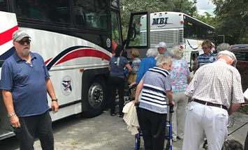 Senior group bus charter rental in Florida - MBI Charters